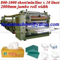 China Italy Design High Speed Automatic Facial Tissue Machine wholesale
