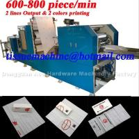 China 2lines Output Automatic High Speed Printing Pocket Tissue Machine wholesale