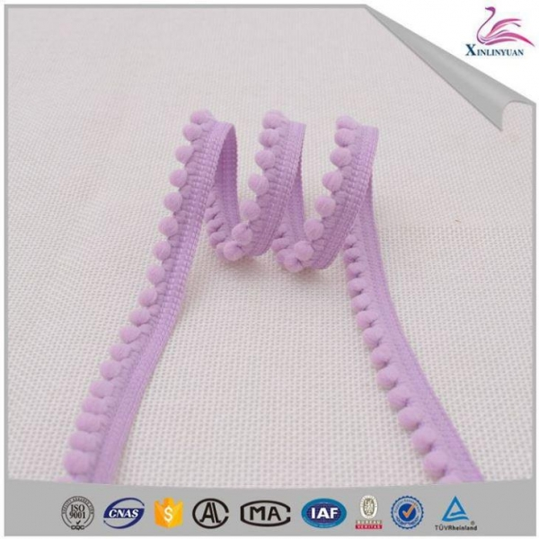 Quality Top-design Wholesale Mini Pom Pom Trim Tassel for sale