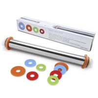 China SRK#900 Adjustable stainless steel rolling pin with scale wholesale