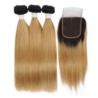 Buy cheap Hair Natural Looking Brazilian Unprocessed Hair 10A Grade Straight Hair 3 Bundles With Closure from wholesalers